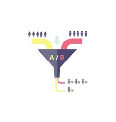 Funnel ab test - testing in vector
