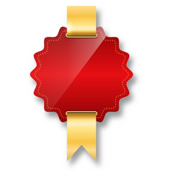 Golden premium quality red best label space for vector