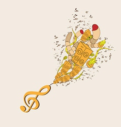 Hand drawn music doodle design vector