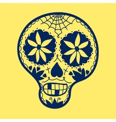 Hand-drawn sugar skull vector