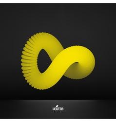 Infinity symbol abstract 3d design element vector