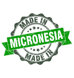 Made in micronesia round seal vector