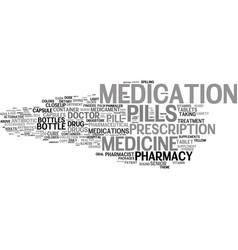 Medication word cloud concept vector