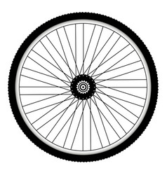 rear bicycle wheel with spiked bicycle tire vector image vector image