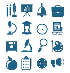 School Simple Icons vector image vector image