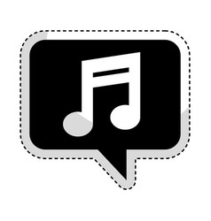 Speech bubble with music note icon vector