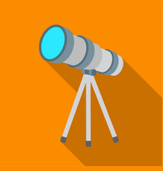 Telescope icon in flate style isolated on white vector