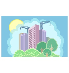 Sun city is under construction vector image