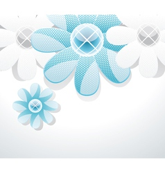 3d glass flowers vector