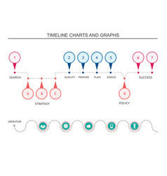 infographic chart and graph design elements vector image