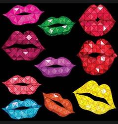 Woman gloss lip mouth kiss vector