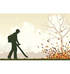 Leaf blower vector image