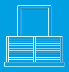 Balcony icon outline style vector