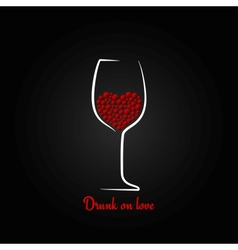wine glass love concept design background vector image