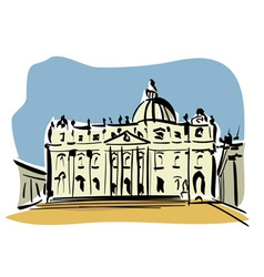 Rome st peters basilica vector