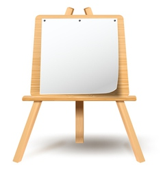 Easel with blank paper vector