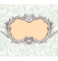 Vintage decorative frame vector