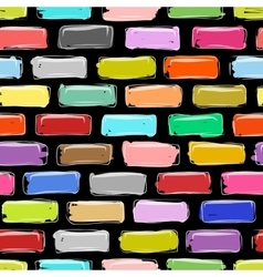 Brick wall colorful sketch for your design vector