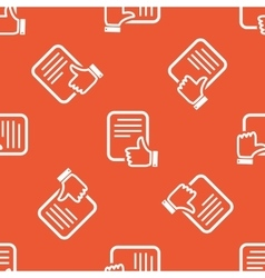 Orange good document pattern vector