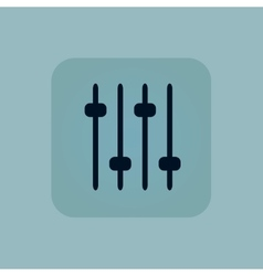 Pale blue console faders icon vector