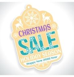 Christmas SALE Holiday Season and Happy New 2016 vector image