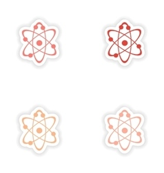 Assembly realistic sticker design on paper vector
