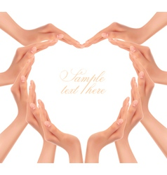 hands making a heart vector image