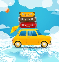 Take Vacation Car travelling concept Flat design vector image