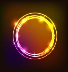 Abstract background with colorful circles neon vector