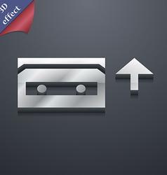 Audio cassette icon symbol 3d style trendy modern vector