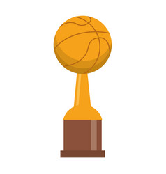 Award cup basketball sport vector