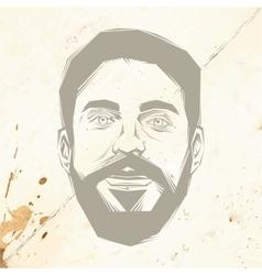 Bearded man vector