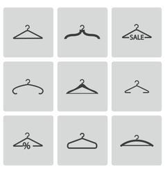 black hanger icons set vector image