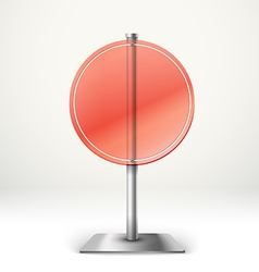 Blank transparent glass round information board vector image vector image