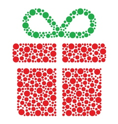 Christmas present made of circles vector