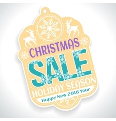 Christmas SALE Holiday Season and Happy New 2016 vector image