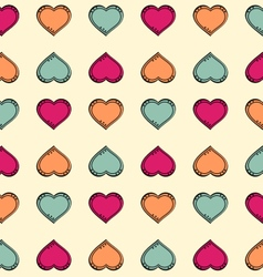 Colorful hearts pattern vector image vector image