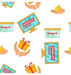 Donate help symbols pattern cartoon style vector