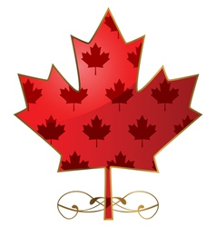 Fancy maple leaf vector image vector image