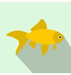 Goldfish icon flat style vector