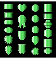 Green icons vector