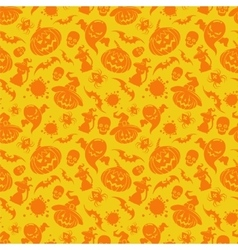Halloween orange seamless pattern vector image