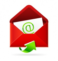 inbox mails icon vector image vector image