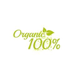 Inscription 100 percentage organic vector