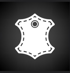 Leather sign icon vector