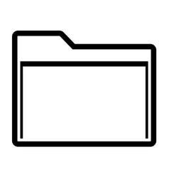 line manila folder icon vector image vector image