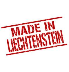made in liechtenstein stamp vector image