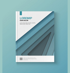 Modern blue cover of the annual report vector