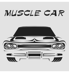 Muscle car retro poster vector