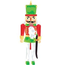 Nut cracker toy soldier vector